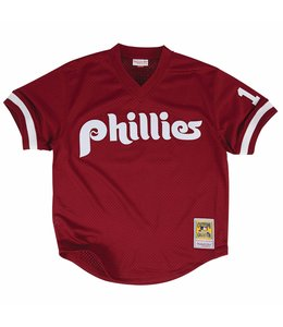 MITCHELL AND NESS PHILLIES JOHN KRUK 1991 AUTHENTIC BP JERSEY