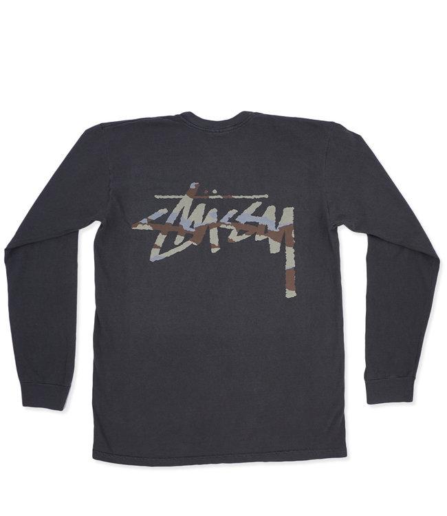 22b49231 Stussy Camo Stock Pigment Pocket Long Sleeve T-Shirt - Black - MODA3