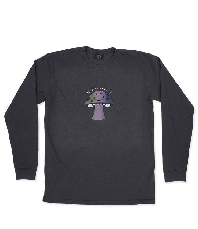 167fc81b5 Stussy Shroom Pigment Dye Long Sleeve T-Shirt - Black | 1994370 - MODA3