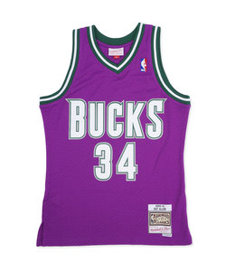 MITCHELL AND NESS BUCKS RAY ALLEN 2000-01 ROAD SWINGMAN JERSEY