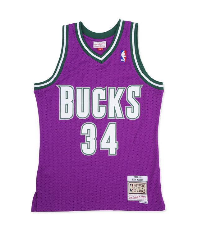 MITCHELL AND NESS Bucks Ray Allen 2000-01 Road Swingman Jersey