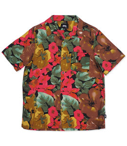 STUSSY WATERCOLOR FLOWER SHIRT