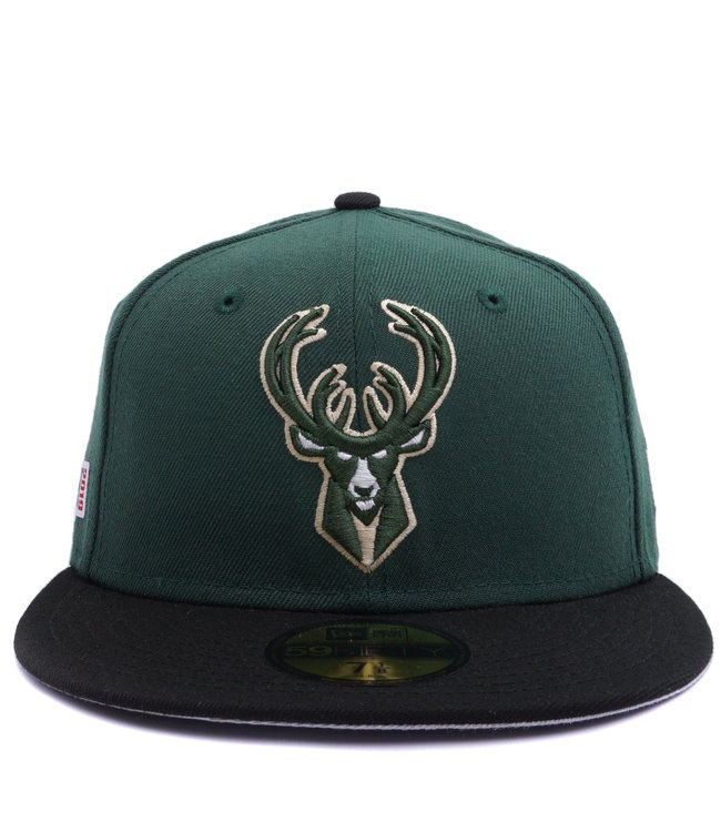 9177b64b09d0af New Era Milwaukee Bucks 2019 Playoff 59Fifty Fitted Hat - Green ...