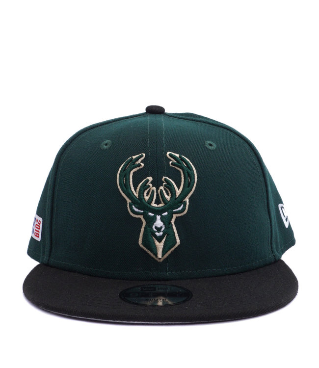 2432bed6aa5a7 New Era Milwaukee Bucks Youth 2019 Playoff 9Fifty Snapback Hat ...