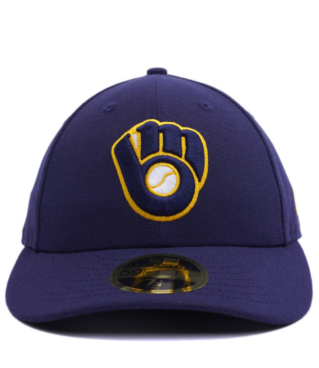 timeless design 57582 4e5f6 NEW ERA Brewers Authentic Low Profile 59Fifty Fitted Hat