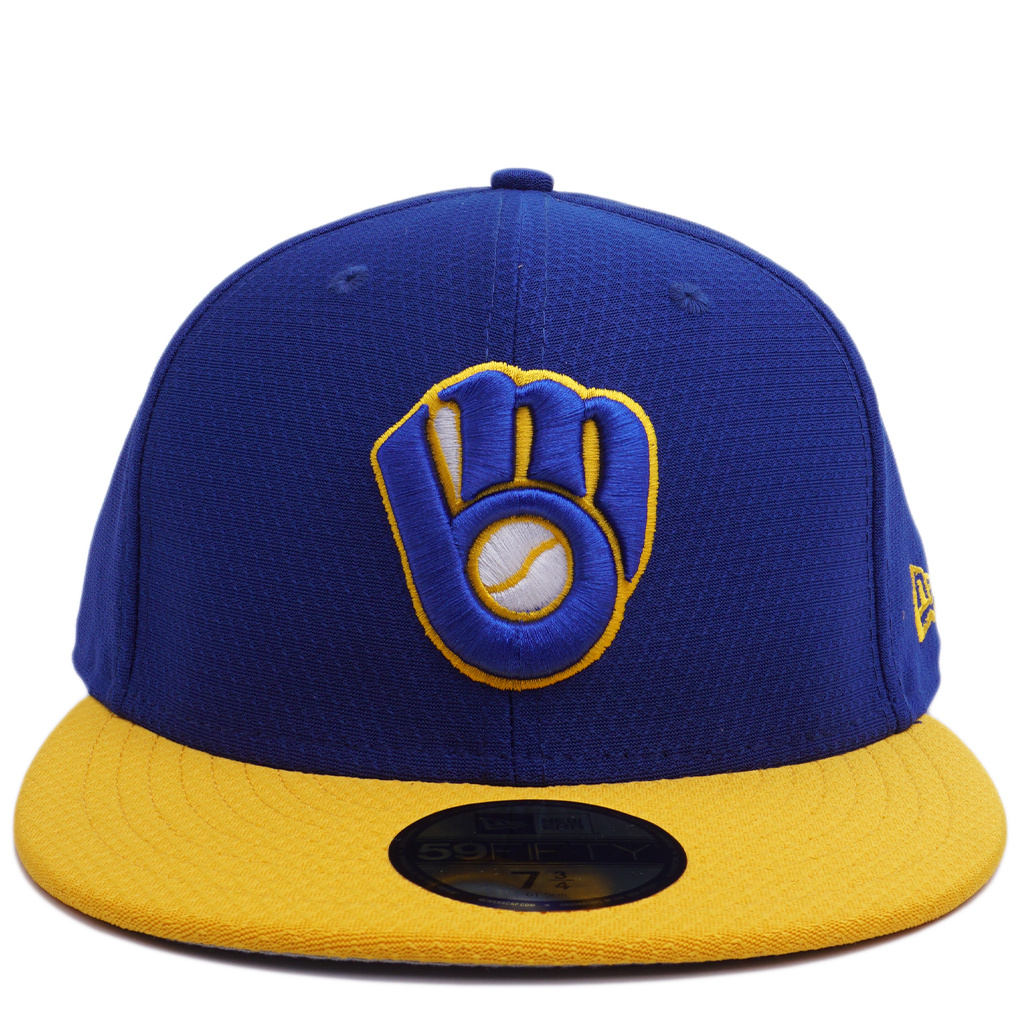 best place great quality cheaper New Era Milwaukee Brewers Batting Practice 59Fifty Fitted Hat - MODA3