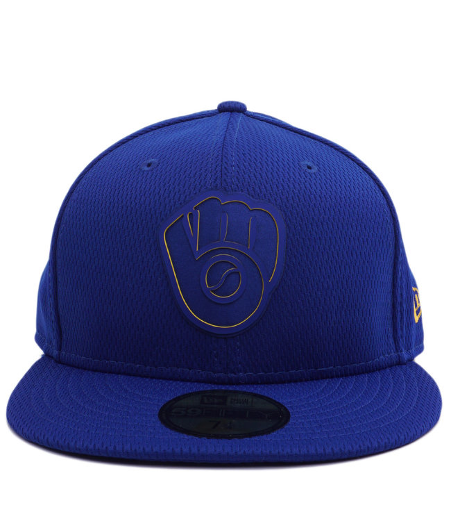 uk availability b5035 f5d1f NEW ERA Brewers Clubhouse 59Fifty Fitted Hat