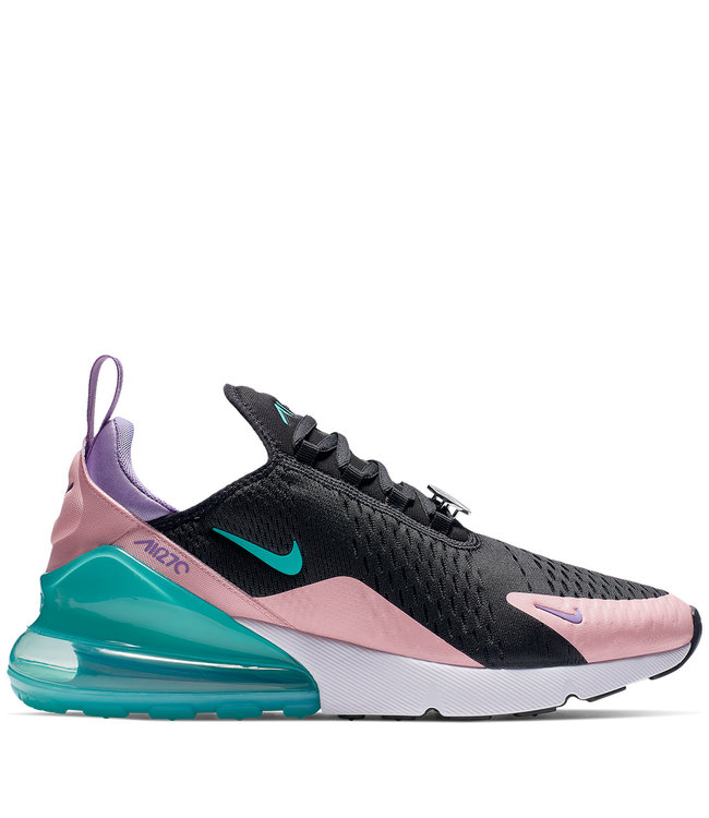 a087bc04ed Nike Air Max 270 Shoes - Black/Bleached Coral/Space Purple/Hyper ...
