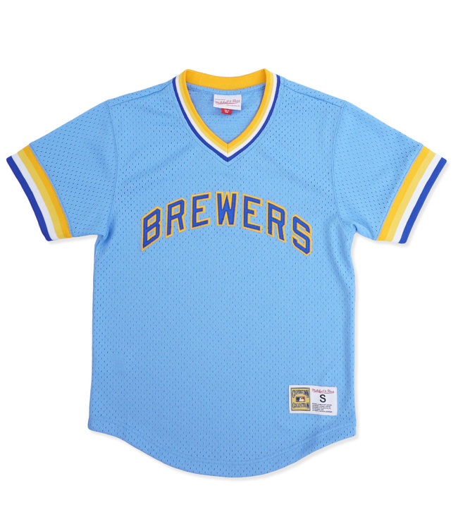 MITCHELL AND NESS Brewers Mesh V-Neck