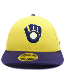 NEW ERA BREWERS PLAYERS WEEKEND LOW PROFILE 59FIFTY FITTED