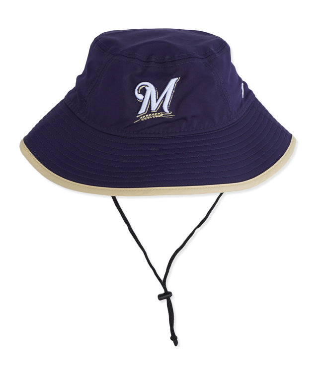 70f9f764d8ada New Era Milwaukee Brewers Youth Clubhouse Bucket Hat - Navy - MODA3