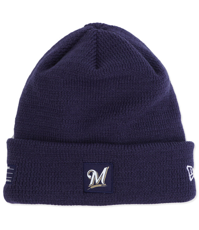 cheap for discount bba02 60b0b NEW ERA Brewers On Field Sport Knit Beanie