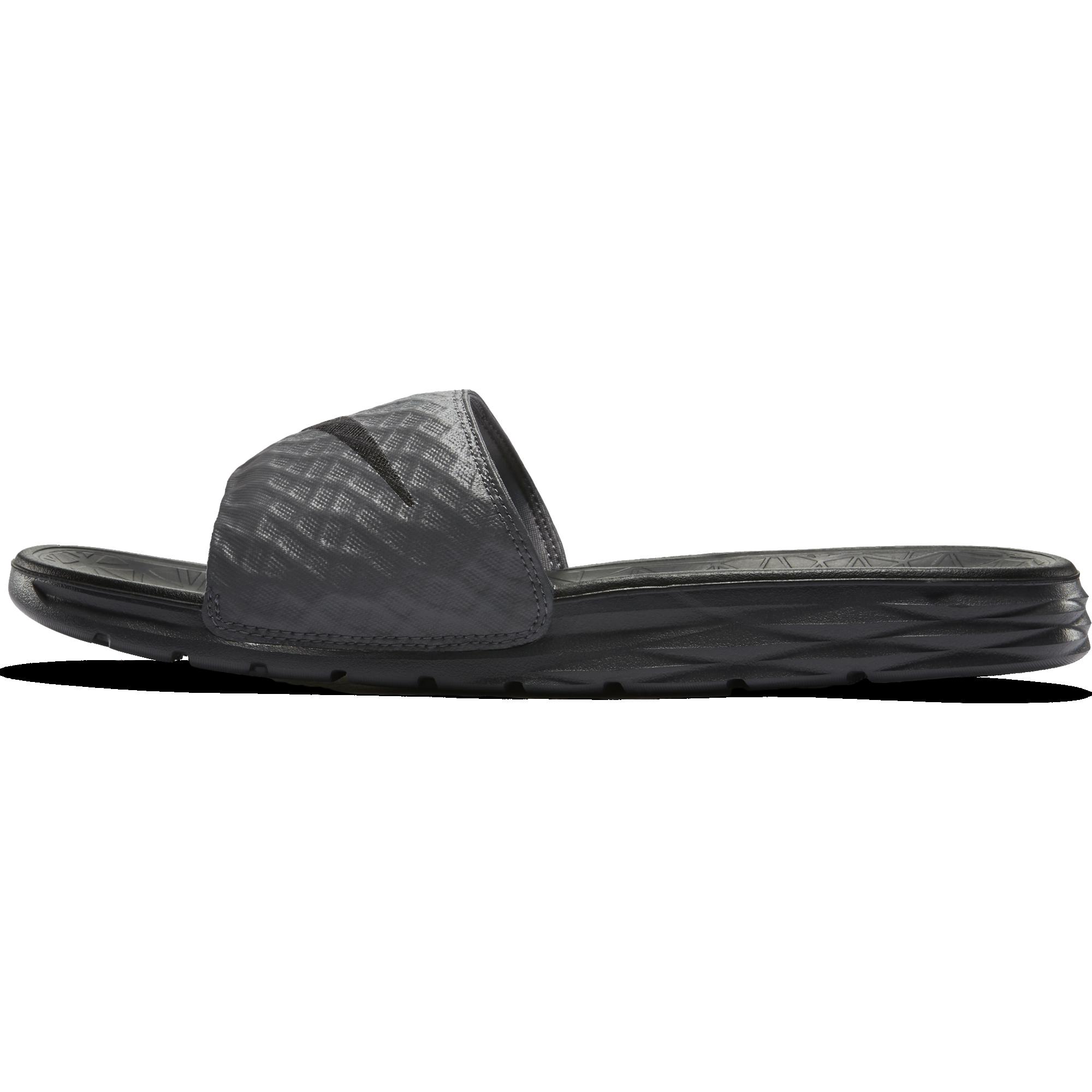 5c5ba98cf0ec Nike Benassi Solarsoft 2 Slide Sandal - Dark Grey Black