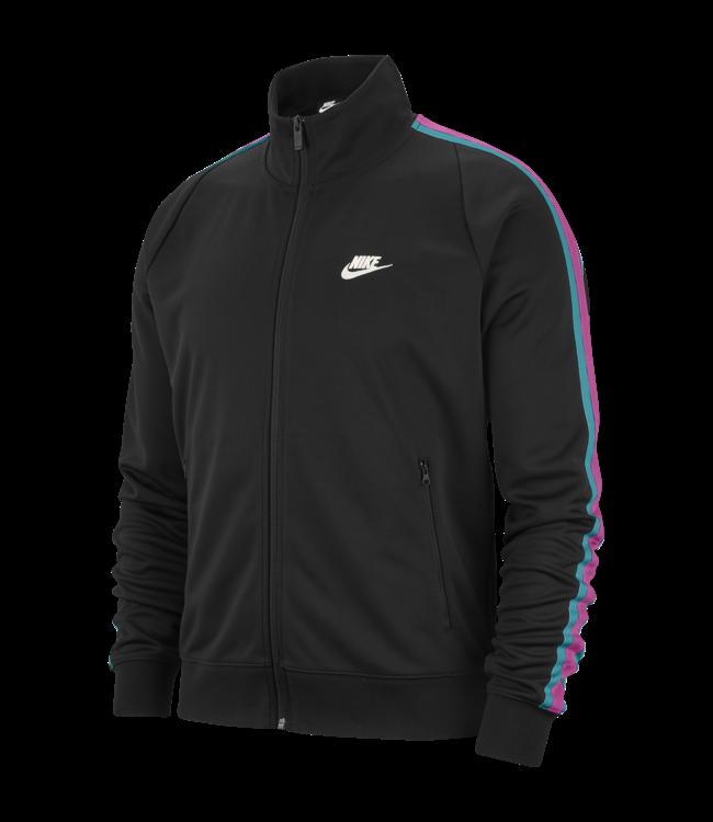 b8fede83 Nike N98 Tribute Track Jacket - Black/Spirit Teal-Sail | AR2244-011 ...
