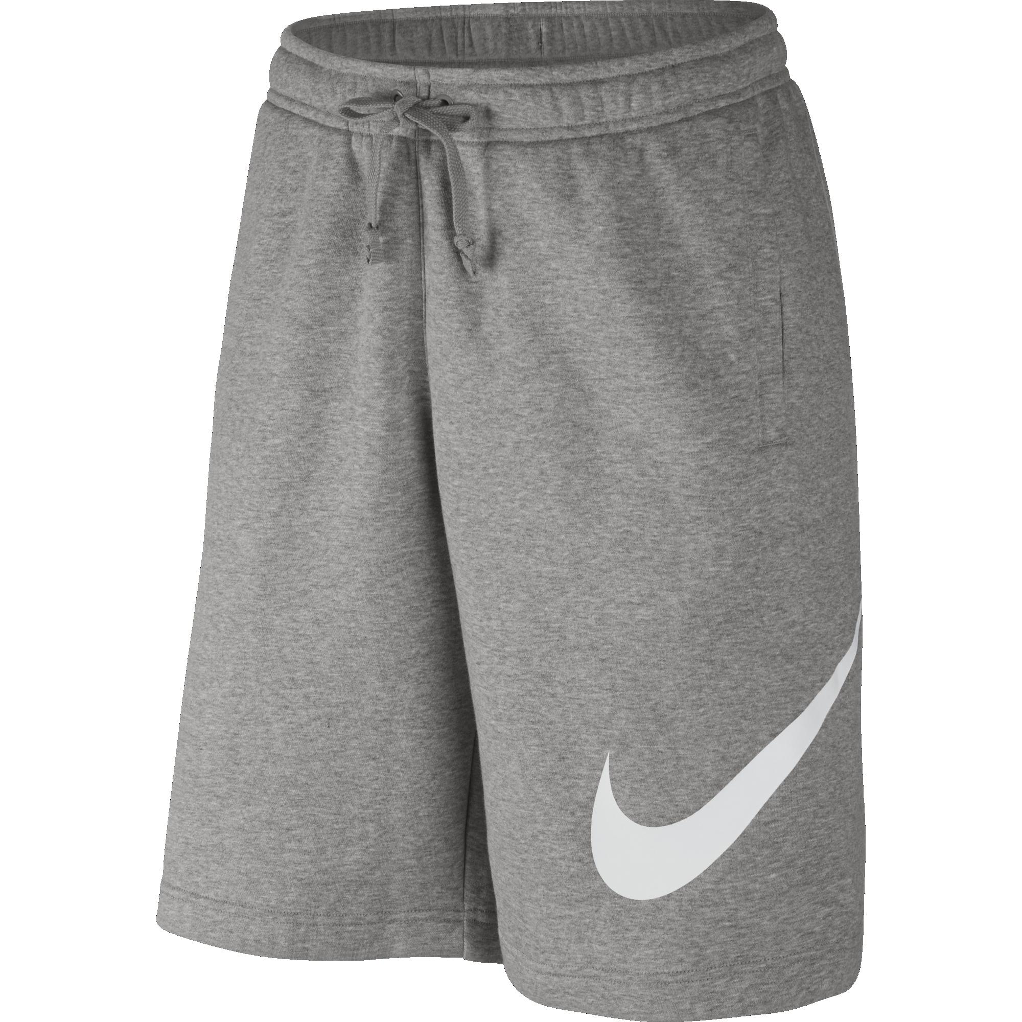 5ece00d32 Nike Club Fleece Shorts - Dark Grey Heather Silver-White