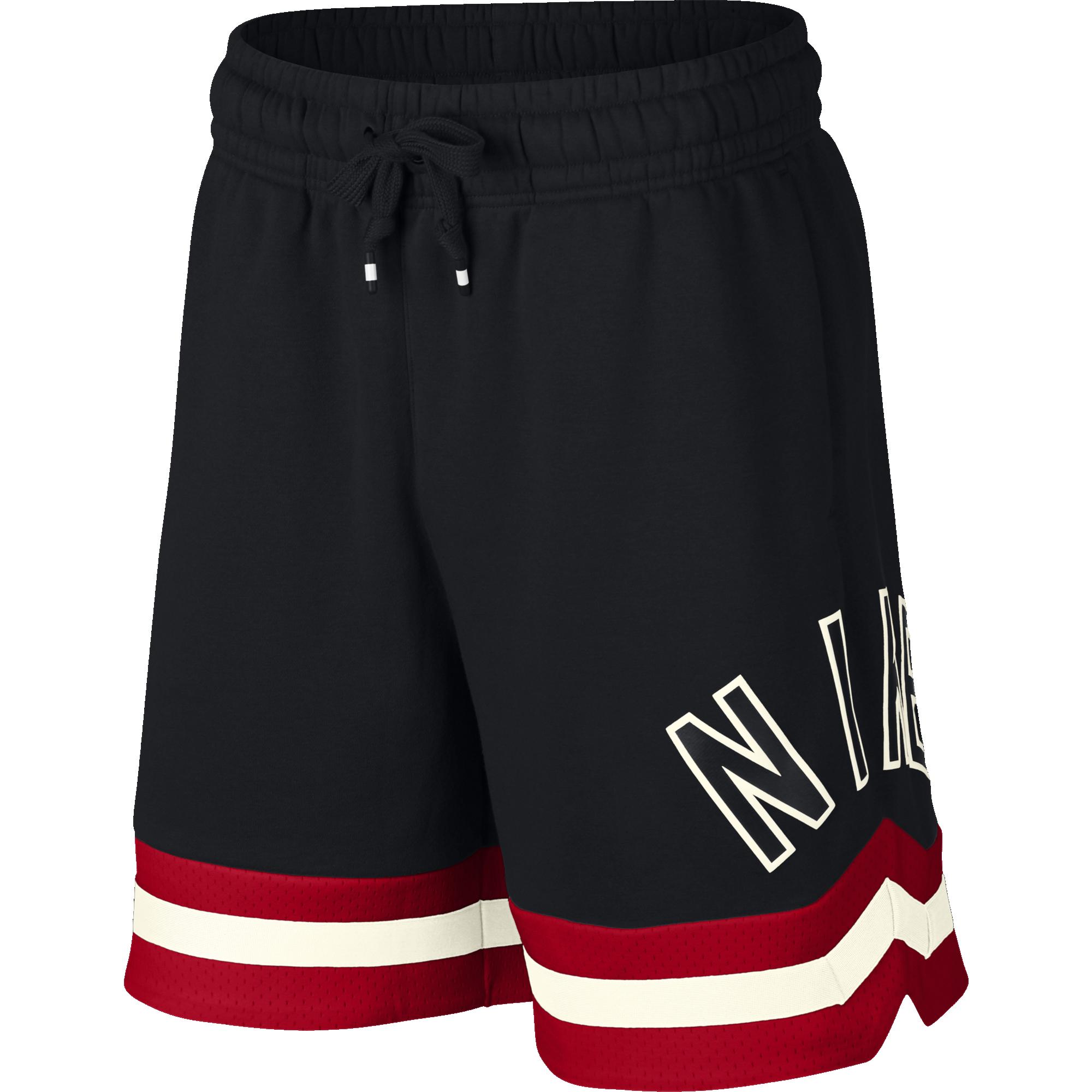 e75403aca226 Nike Air Fleece Shorts - Black University Red-Sail