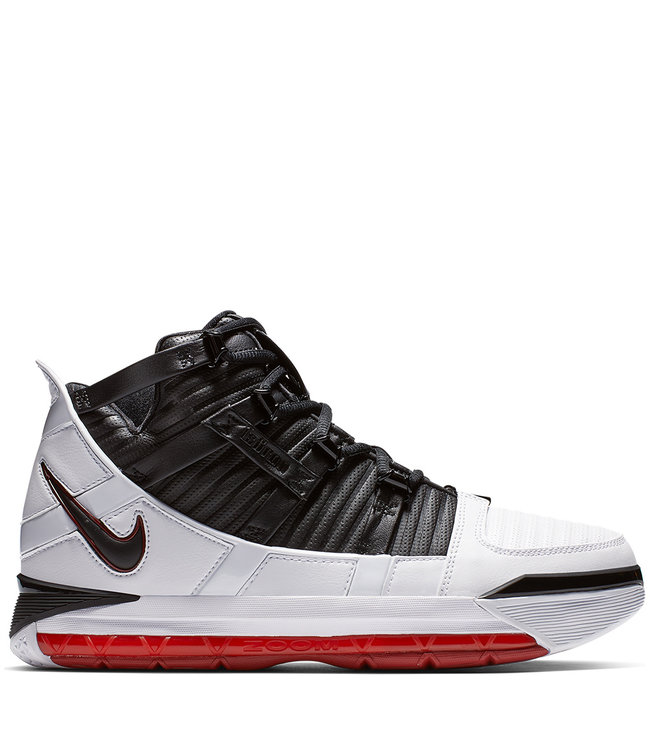 b7854d5b05078 Nike Zoom Lebron 3 Home - White Black-Varsity Crimson