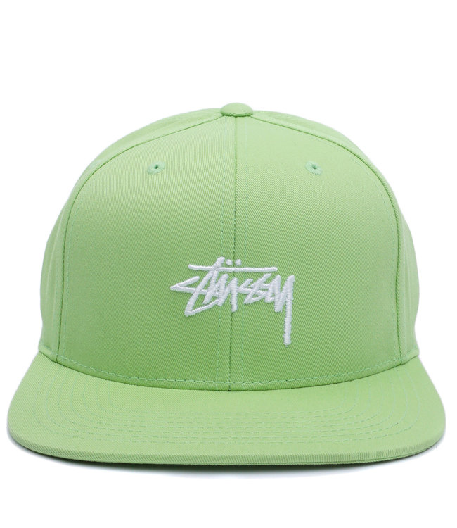 794c7dffee30b9 Stussy Stock Snapback Hat - Lime   131868 - MODA3