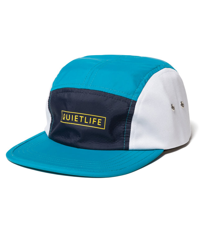 488b8f1592d The Quiet Life Ranier 5 Panel Camper Hat - Aqua Navy White - MODA3