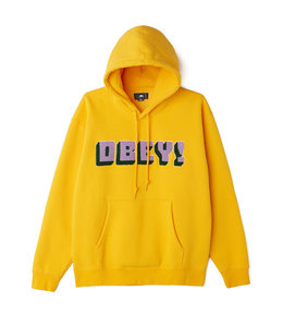 OBEY BEAN CHENILLE PATCH PULLOVER HOOD