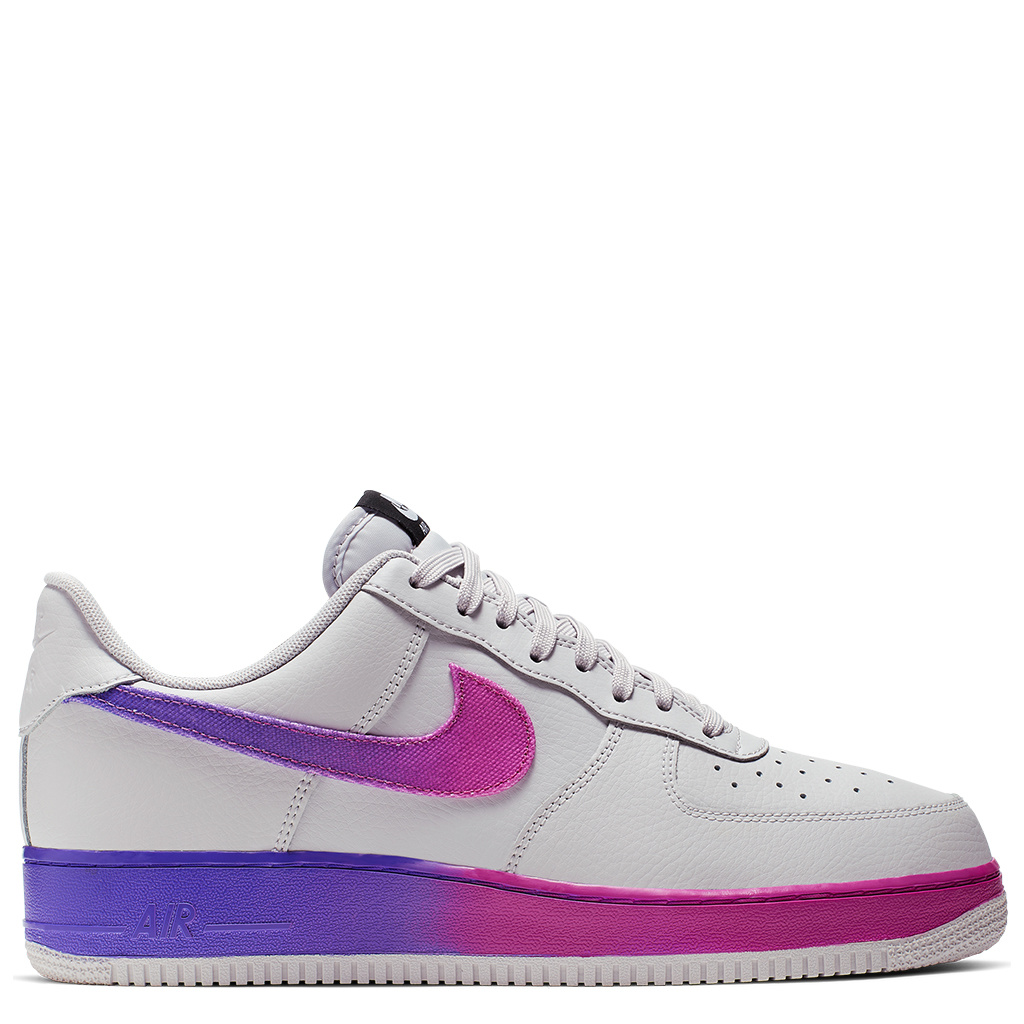 date de sortie: 0c336 8874a Nike Air Force 1 '07 LV8 Shoes - Vast Grey/Hyper Grape-Active Fuchsia