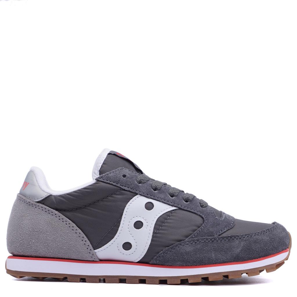 info for b3c29 48823 Saucony Jazz Low Pro Shoes - Castlerock/Grey/Red | S2866-266