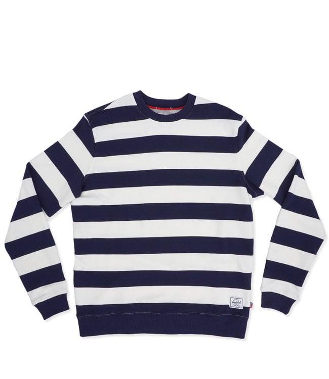 cae2eae32d8a Herschel Supply Co. Crewneck Sweatshirt - Boarder Stripe Peacoat Rib ...