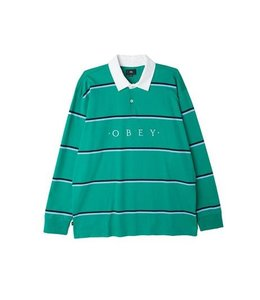 OBEY WASHER LONG SLEEVE POLO