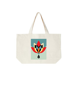 OBEY GEOMETRIC FLOWER TOTE