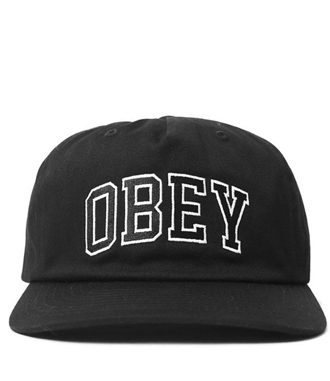 97685cf964666b OBEY Dropout Snapback Hat - Black   100570091 - MODA3