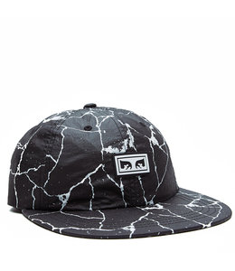 OBEY CRACKED 6 PANEL HAT