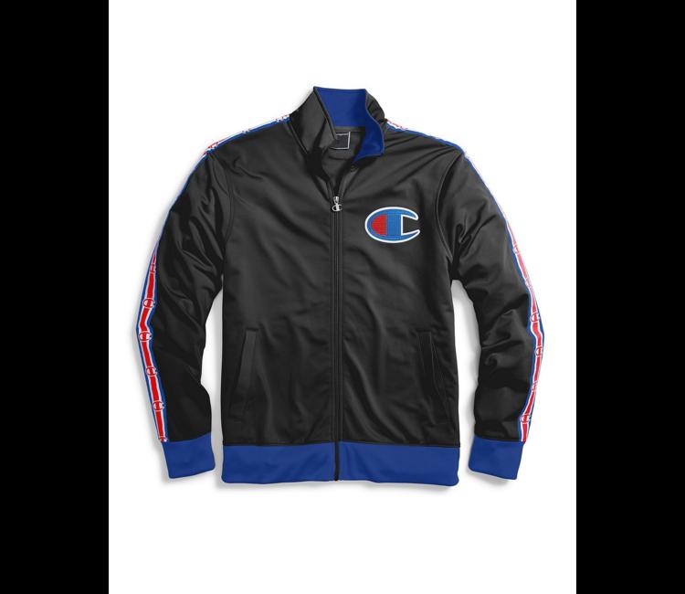 944d97a7c1f1 Champion Big C Track Jacket - Black/Surf The Web | V3377 - MODA3