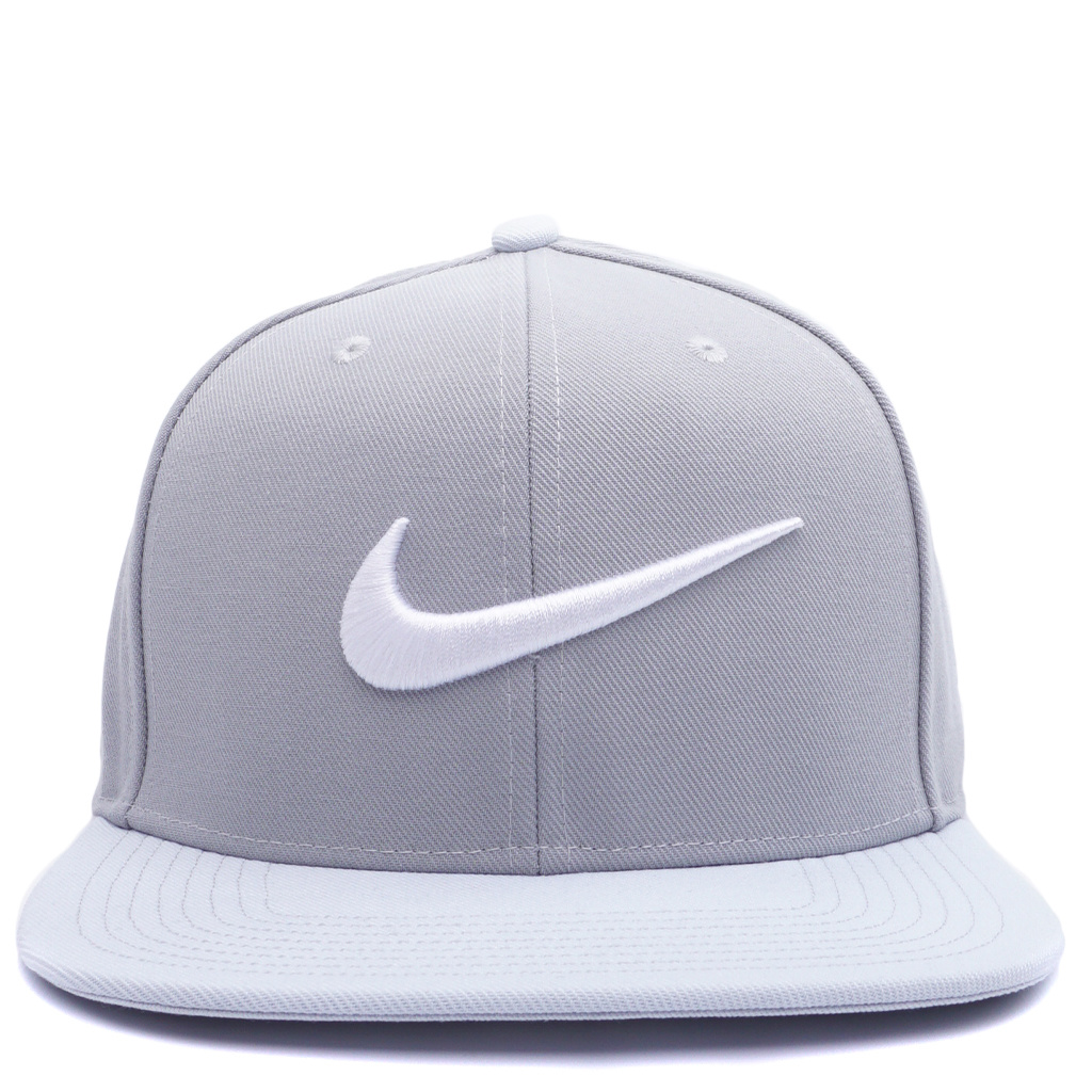 reputable site save up to 80% quality Nike Pro Swoosh Classic Snapback Hat - Wolf Grey/White   639534-016