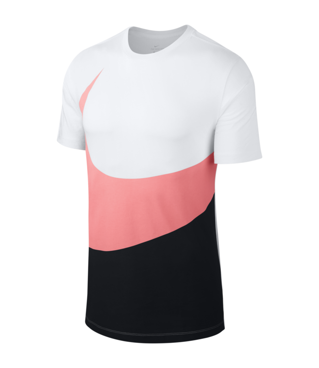 86fea731 Nike Swoosh T-Shirt - White/Black-Pink Gaze | AR5191-104 - MODA3