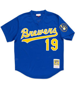 MITCHELL AND NESS BREWERS ROBIN YOUNT 1991 BP JERSEY