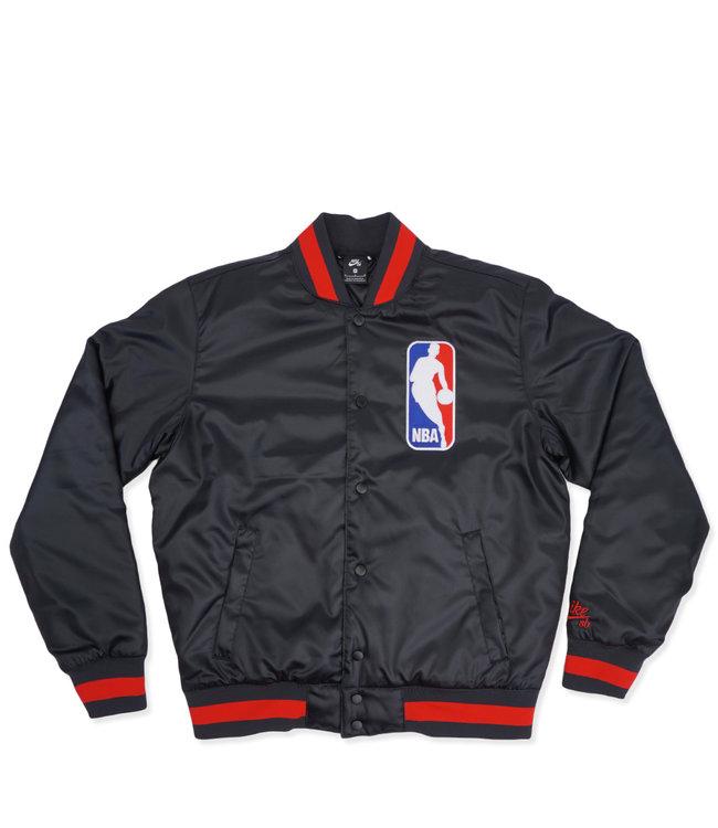 17fff4b6fb7 Nike SB x NBA Bomber Jacket - Black University Red - MODA3