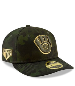 NEW ERA BREWERS ARMED FORCES DAY LOW PROFILE FITTED