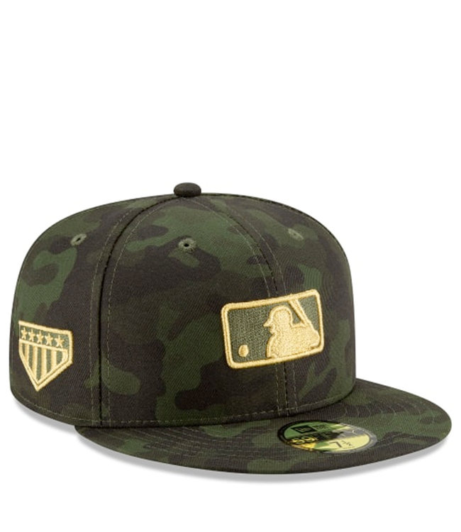 b5e621c101e1dc New Era MLB Umpire Armed Forces 59Fifty Fitted Hat - Green - MODA3
