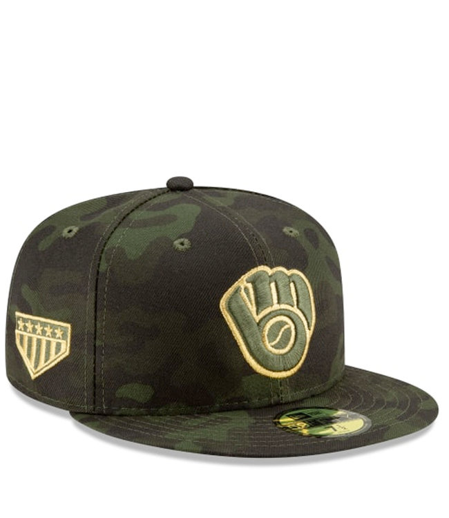 NEW ERA Brewers Armed Forces Day 59Fifty Fitted Hat