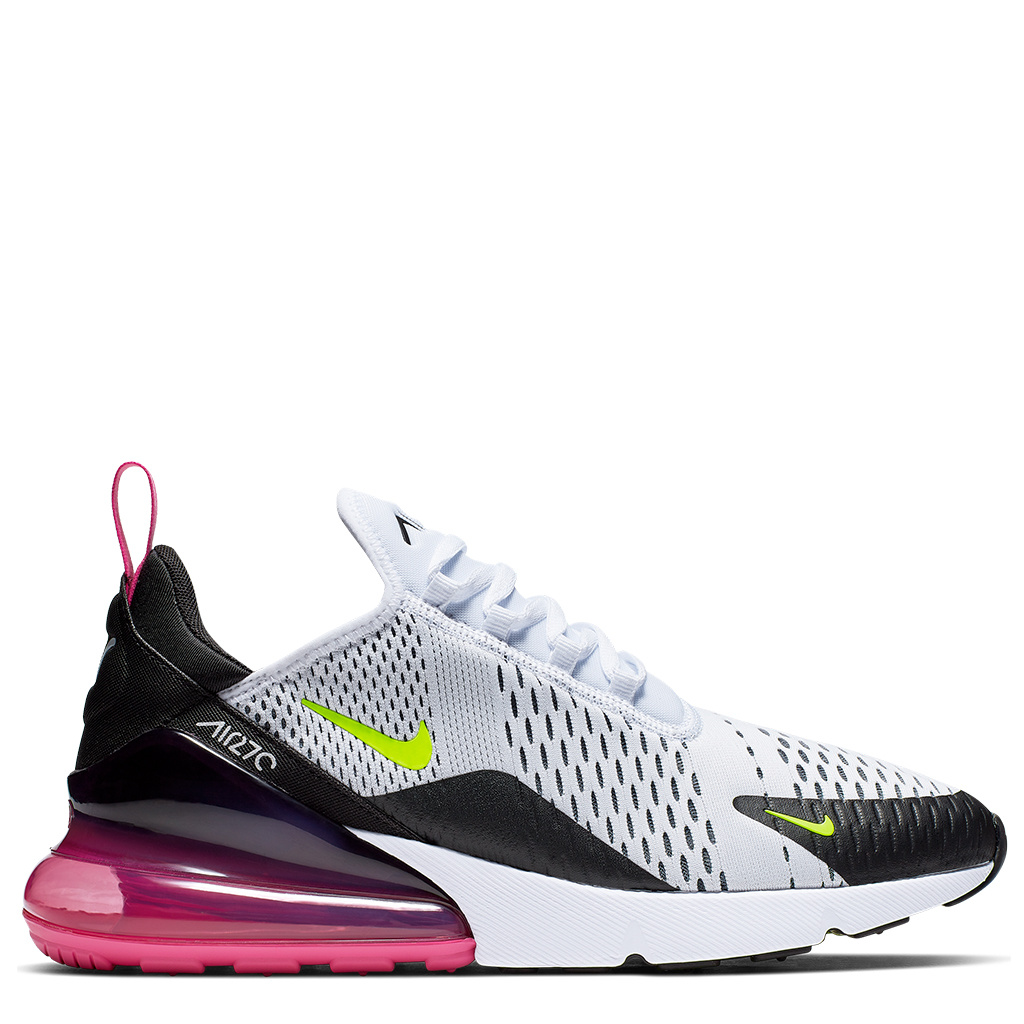 save off 5c0ef aa6e3 Nike Air Max 270 Shoes - White/Volt-Black-Laser Fuchsia | AH8050-109
