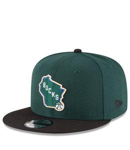 NEW ERA BUCKS 2-TONE 9FIFTY SNAPBACK HAT