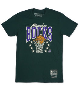 MITCHELL AND NESS BUCKS BASKET STARS TEE
