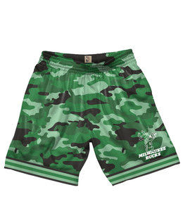 MITCHELL AND NESS BUCKS CAMO MESH SHORT