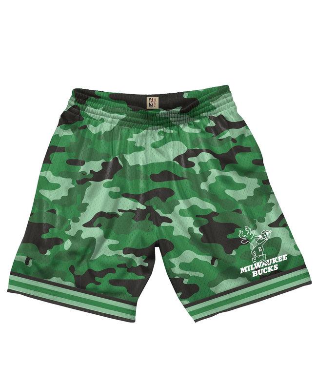 MITCHELL AND NESS Bucks Camo Mesh Shorts