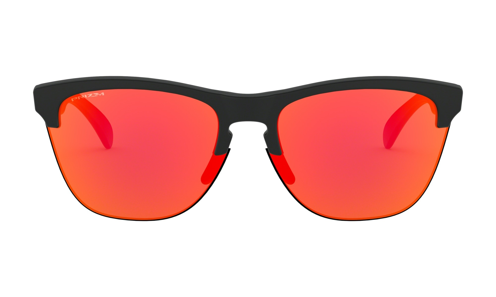 84d008e5205e5 Oakley Frogskins Lite Sunglasses - Matte Black Prizm Ruby - MODA3
