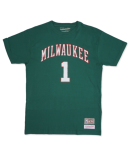 MITCHELL AND NESS BUCKS OSCAR ROBERTSON JERSEY TEE