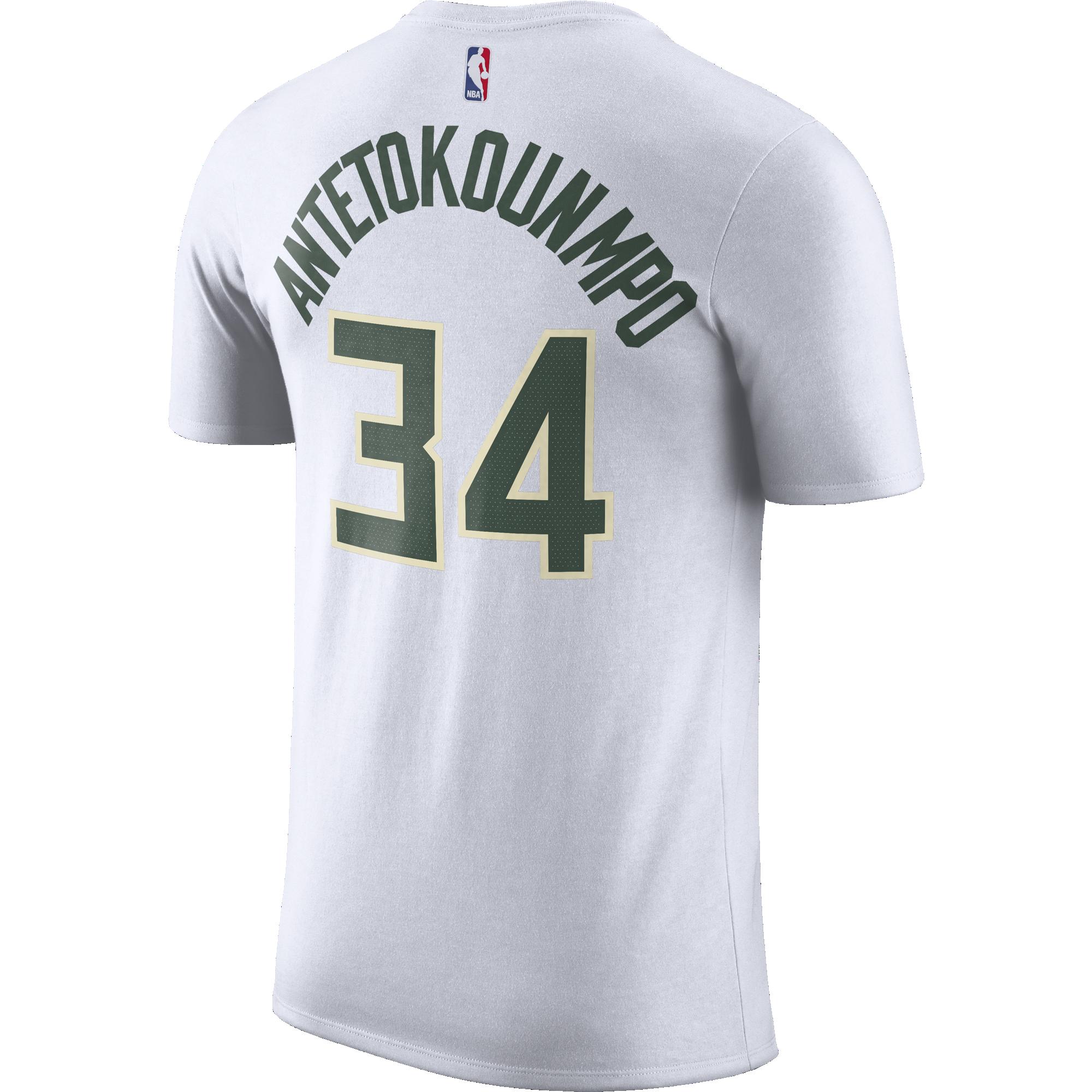 premium selection d2fac 4b814 Nike Bucks Giannis Association Jersey T-Shirt - White