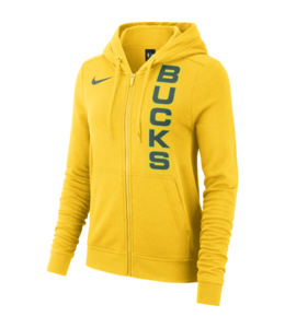 NIKE BUCKS WOMENS CITY EDITION WORDMARK HOODIE