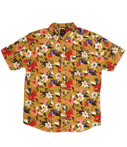 RVCA VIBRATIONS FLORAL BUTTON-UP SHIRT