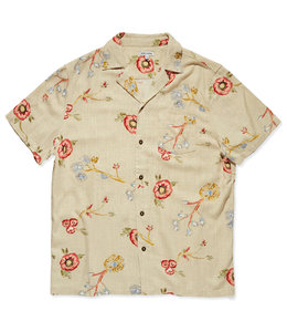 BANKS JOURNAL SYMBOLS LINEN WOVEN SHIRT